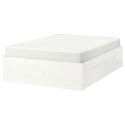 Used IKEA Brimnes Full Bed Frame with 4 Drawers for sale on AptDeco