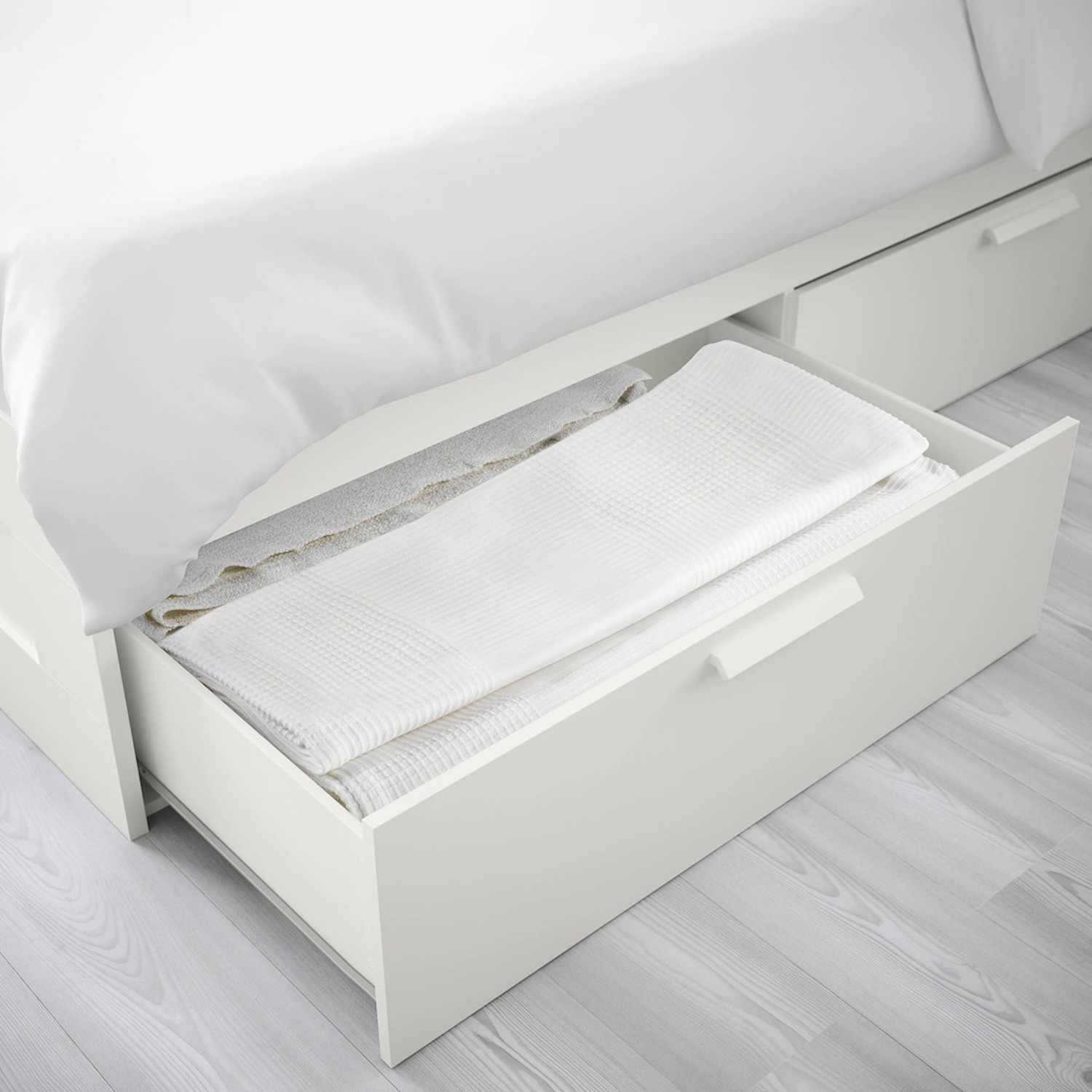 IKEA Brimnes Full Bed Frame with 4 Drawers - image-2