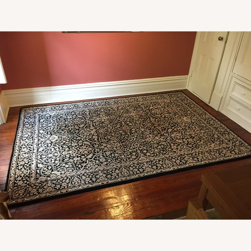 Used Black Persian Wool and Sillk Rug for sale on AptDeco