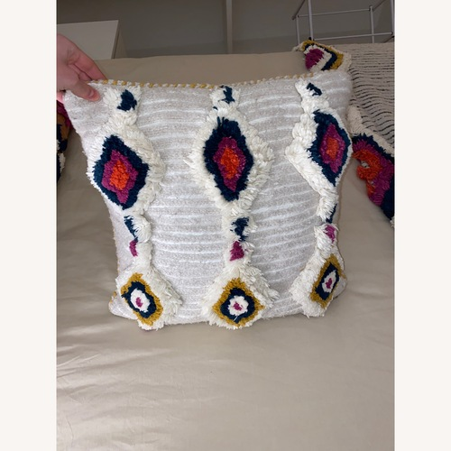 Used Anthropologie Tufted Ayla Pillow for sale on AptDeco