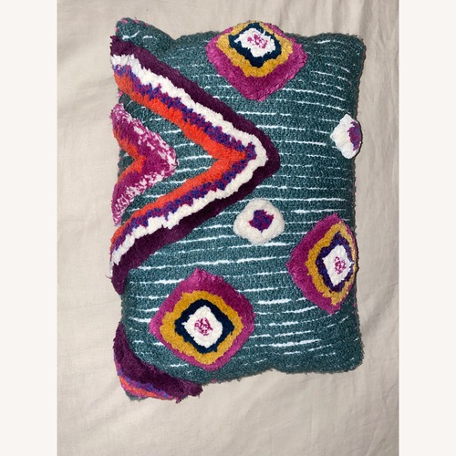Used Boho Blue Throw Pillow for sale on AptDeco