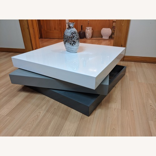 Used Lacquer Craft Modern Revolving Coffee Table for sale on AptDeco