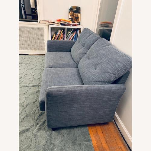 Used Upholstered Fabric Loveseat Sofa for sale on AptDeco