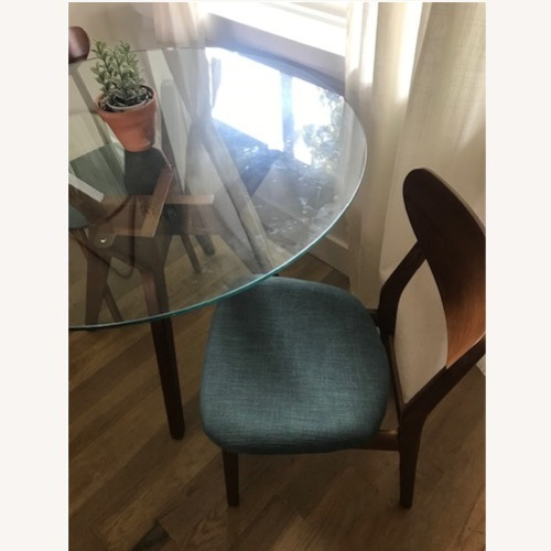 Used West Elm Round table set with 2 chairs for sale on AptDeco