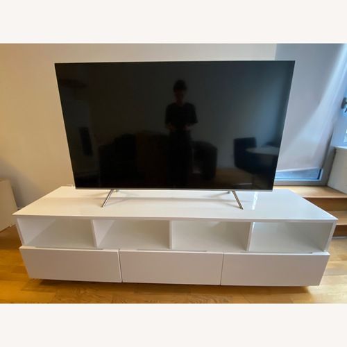 Used CHILL LARGE WHITE MEDIA CONSOLE for sale on AptDeco