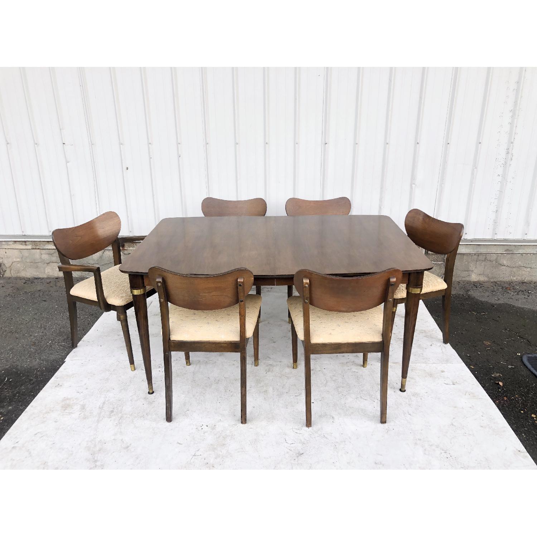 Mid-Century Modern Dining Room Set w/ Six Chairs
