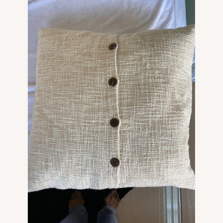 West Elm Metallic Crosshatch Pillow - image-6