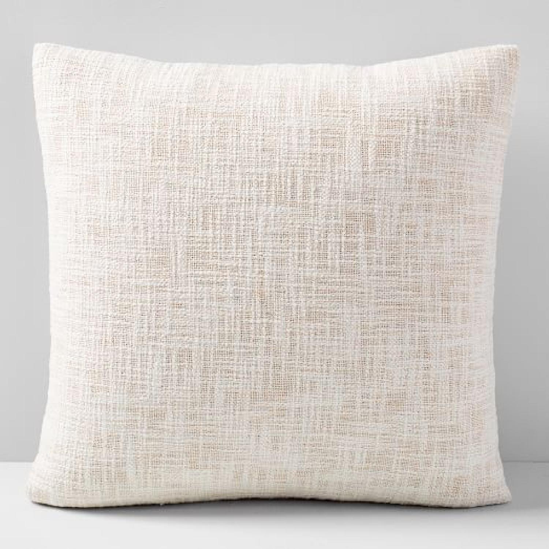 West Elm Metallic Crosshatch Pillow - image-5