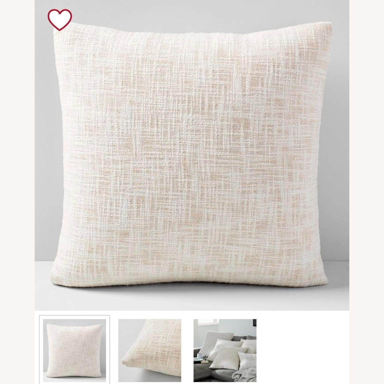 West Elm Metallic Crosshatch Pillow - image-4
