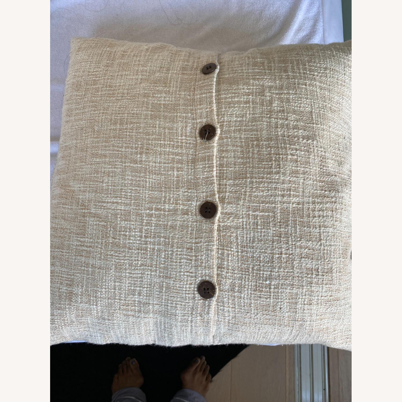 West Elm Metallic Crosshatch Pillow - image-7