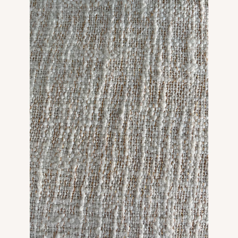 West Elm Metallic Crosshatch Pillow - image-3