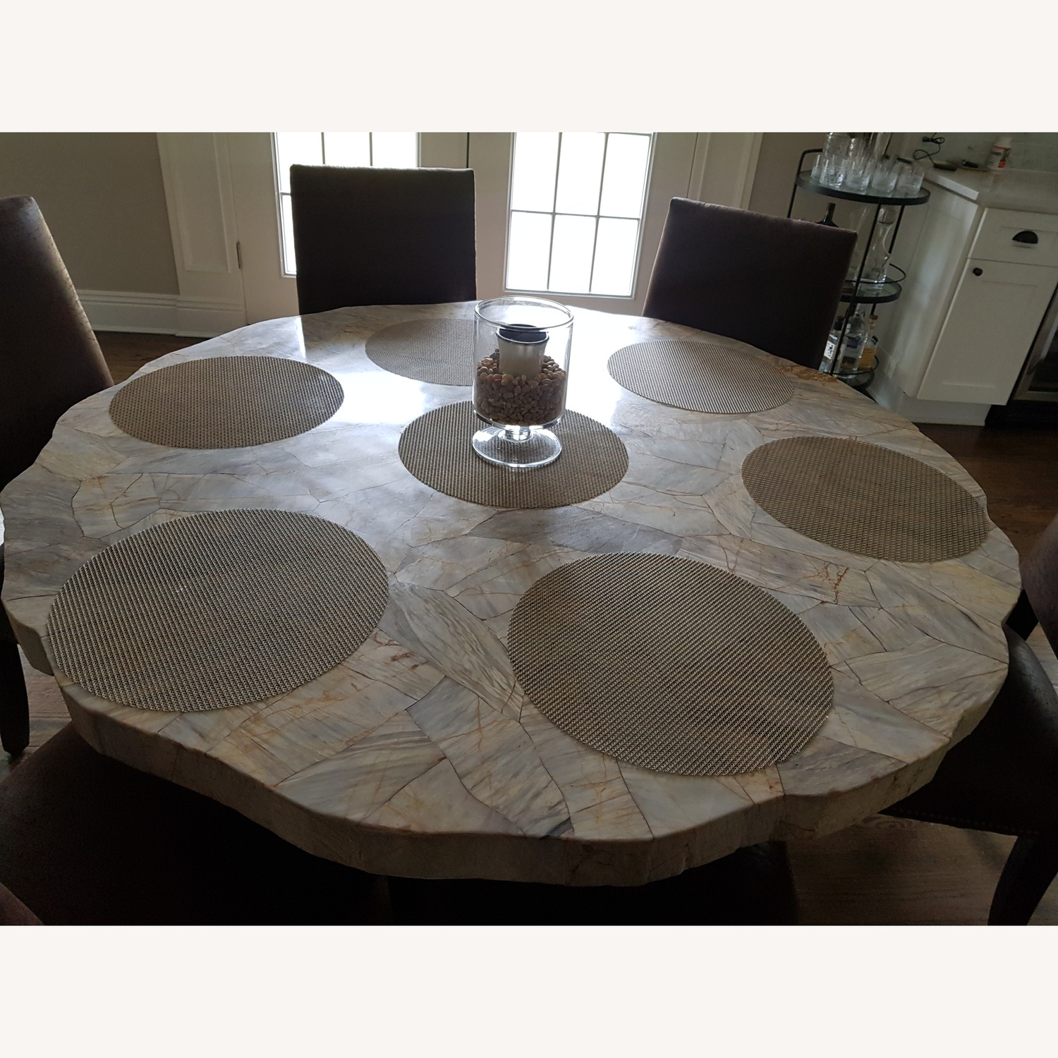 Arhaus Luxury Peta Round Dining Table with 6 Chairs - image-2