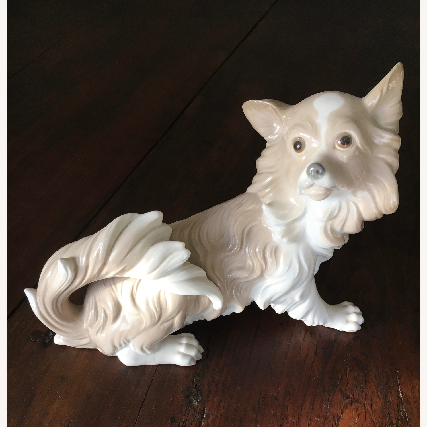X Large Lladro Signed Papillon Figurine Ret