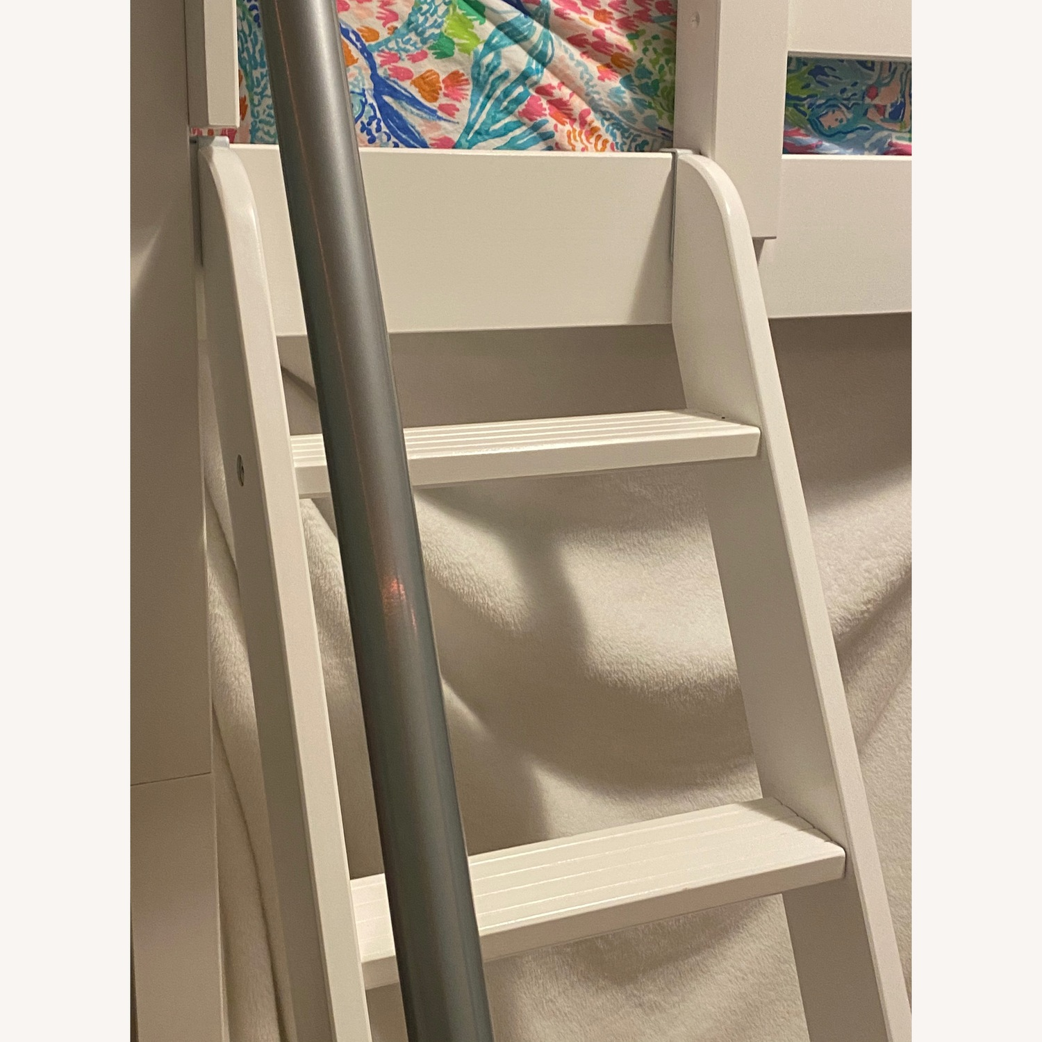 New White Loft Bed - Twin - image-2