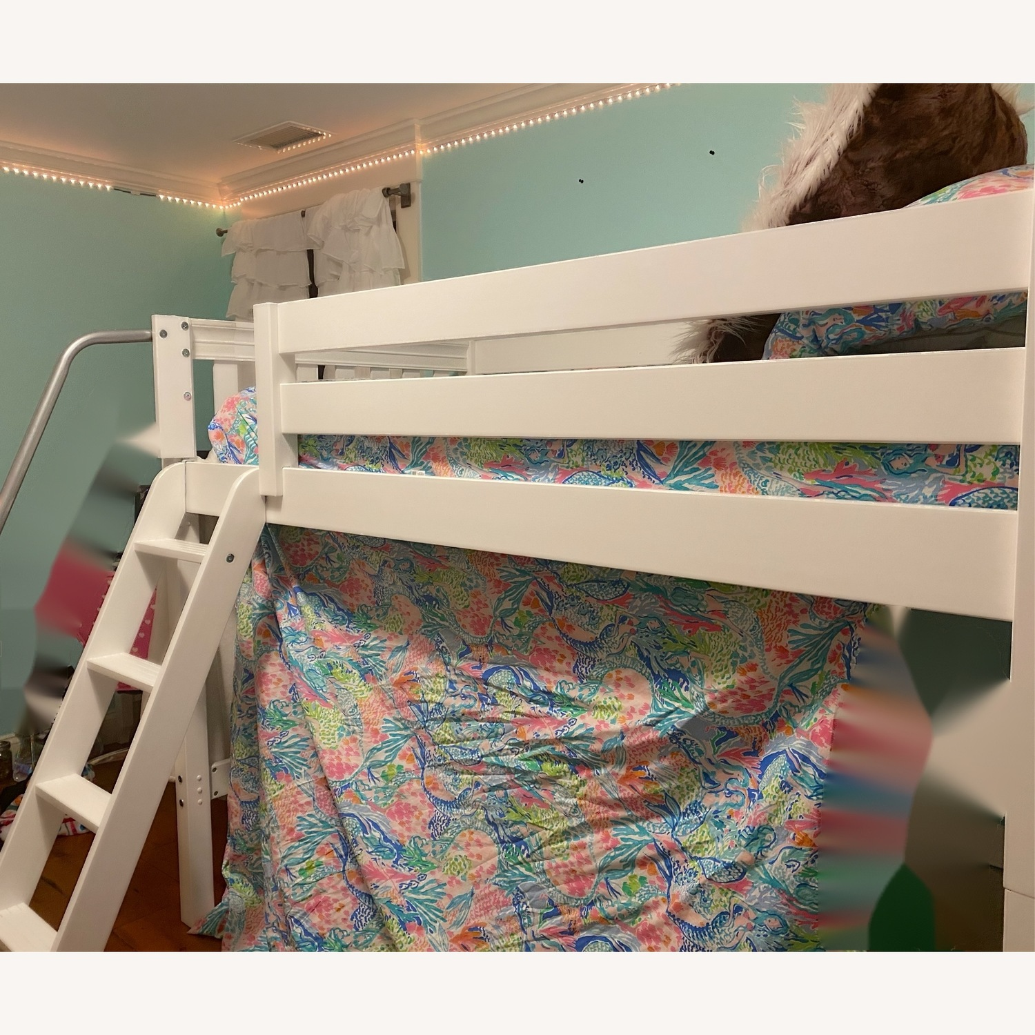 New White Loft Bed - Twin - image-3