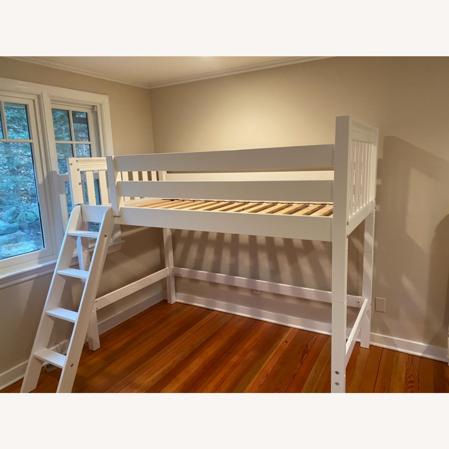 New White Loft Bed - Twin - image-5