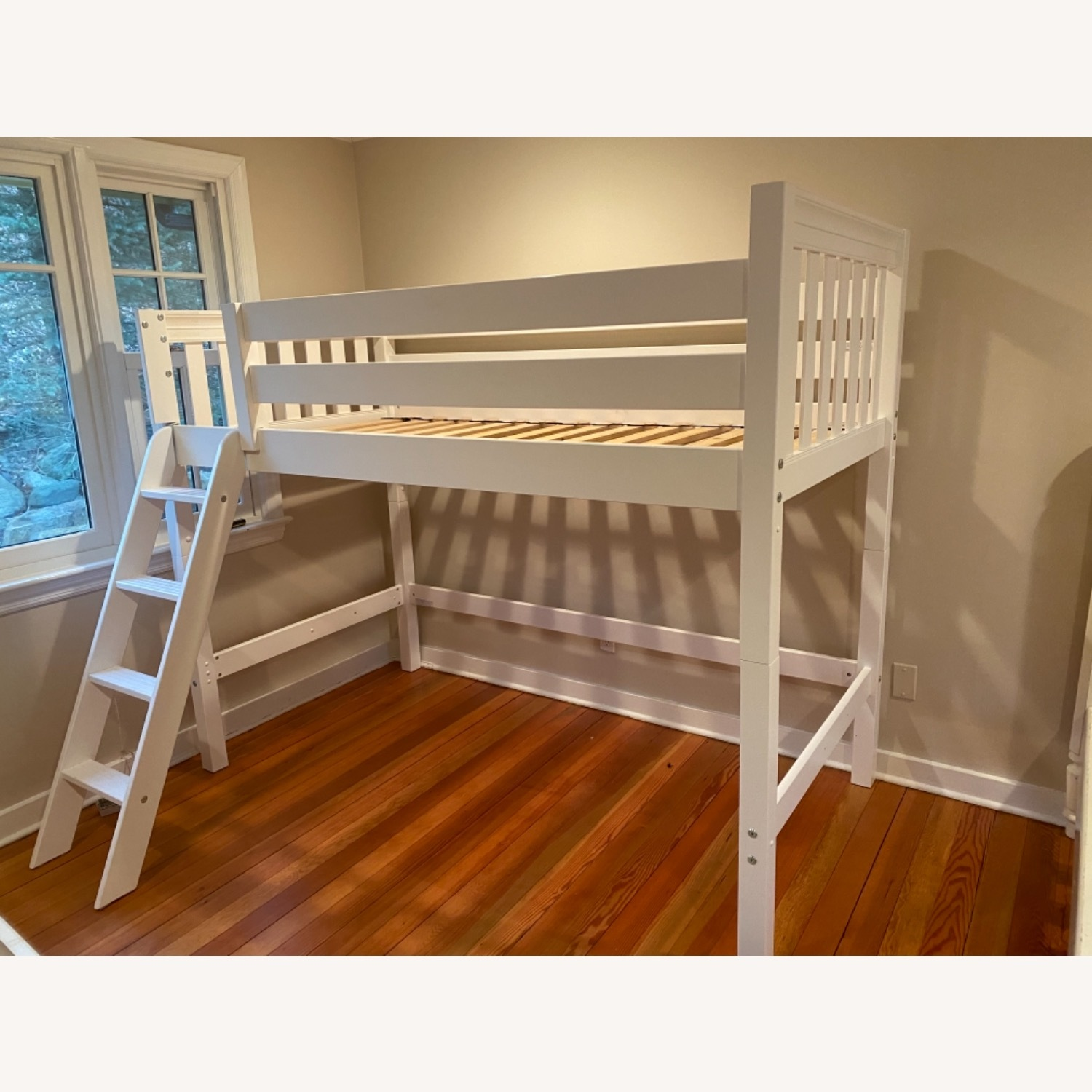 New White Loft Bed - Twin - image-4