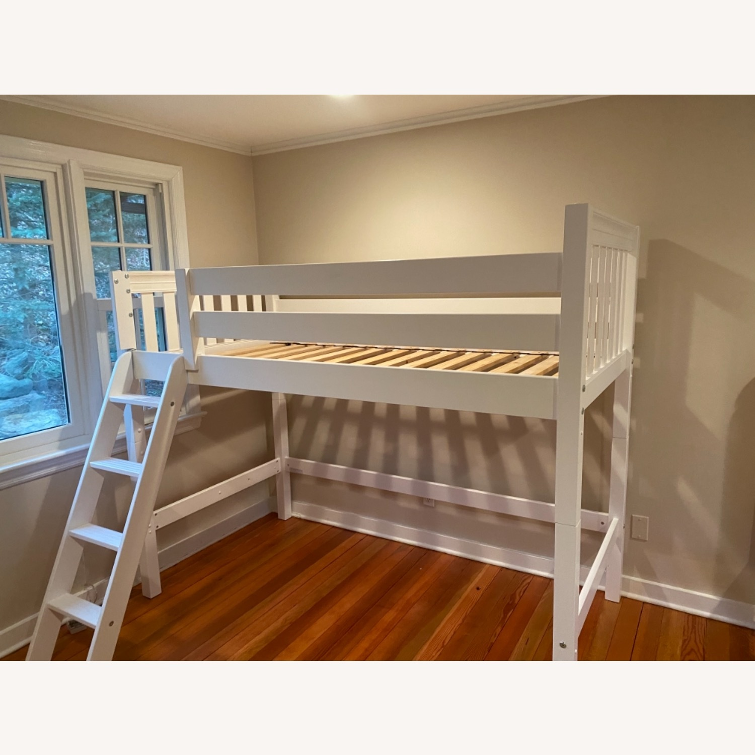 New White Loft Bed - Twin - image-0