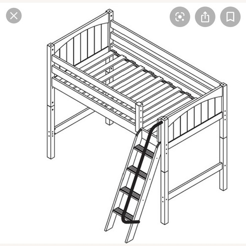 Used New White Loft Bed - Twin for sale on AptDeco