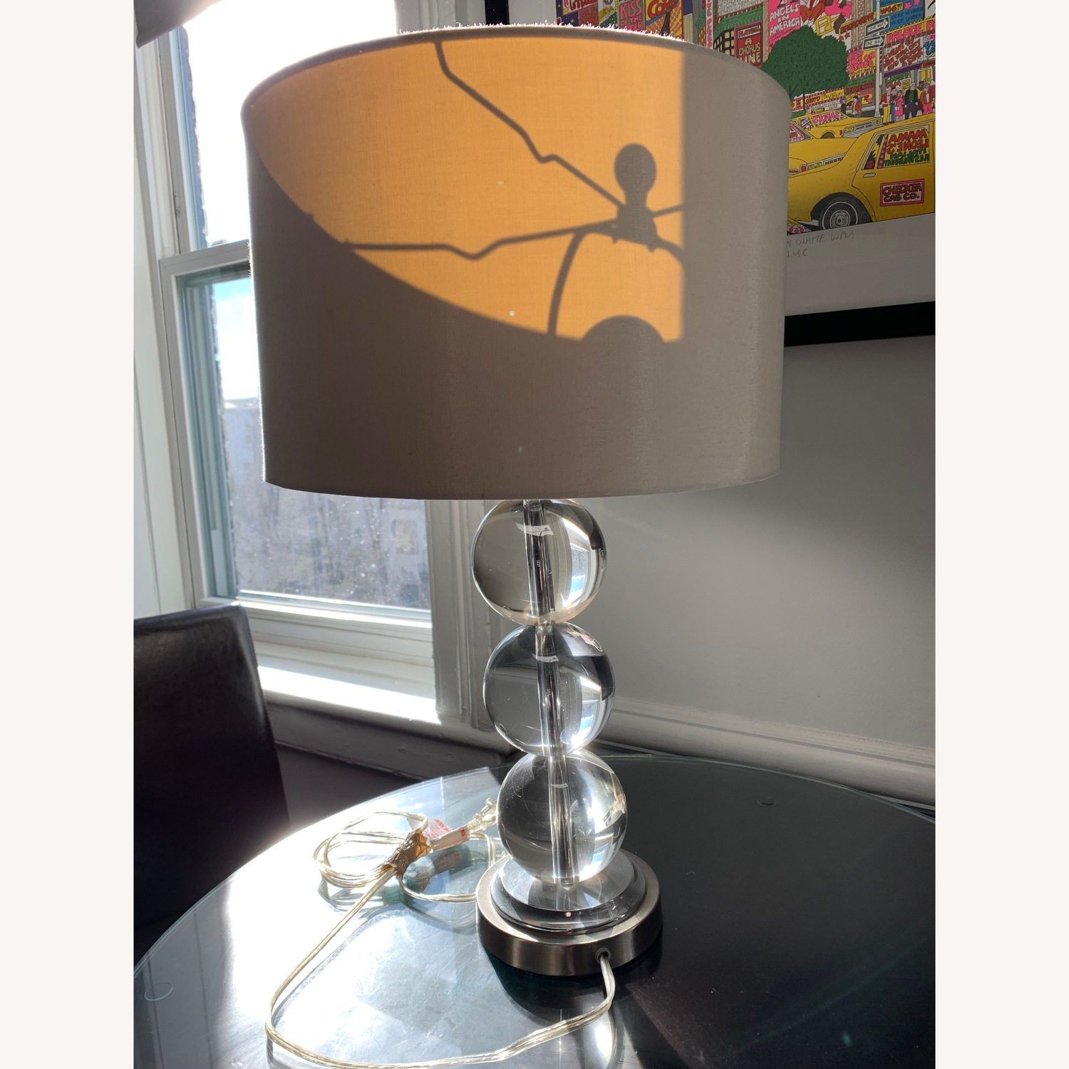 Pier One Glass Table Lamp