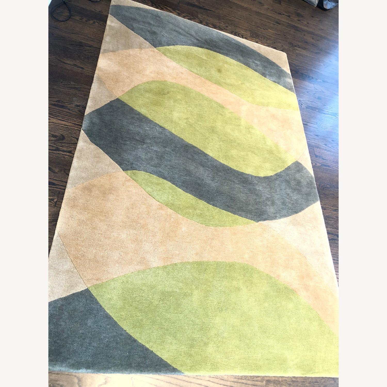 Custom designer Deirdre Dyson 100% Tibetan Wool Rug - image-1