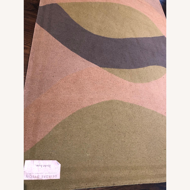 Custom designer Deirdre Dyson 100% Tibetan Wool Rug - image-3