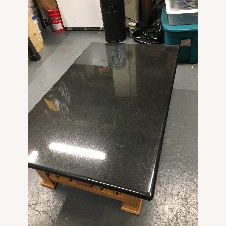 Black Granite Coffee Table Aptdeco