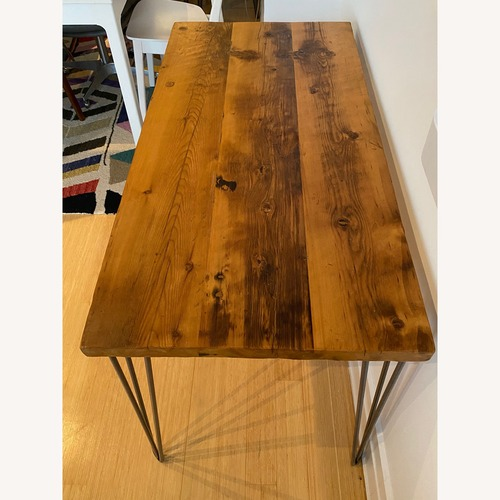 Used Taylor Made Wooden Table with Hairpin Legs for sale on AptDeco