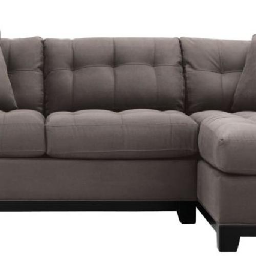 Used Slate Gray 2pc Microfibre Sectional Sofa for sale on AptDeco