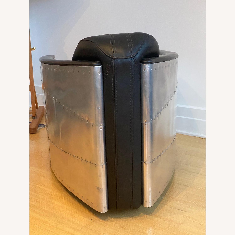 Restoration Hardware Aviator Swivel Chair - image-3