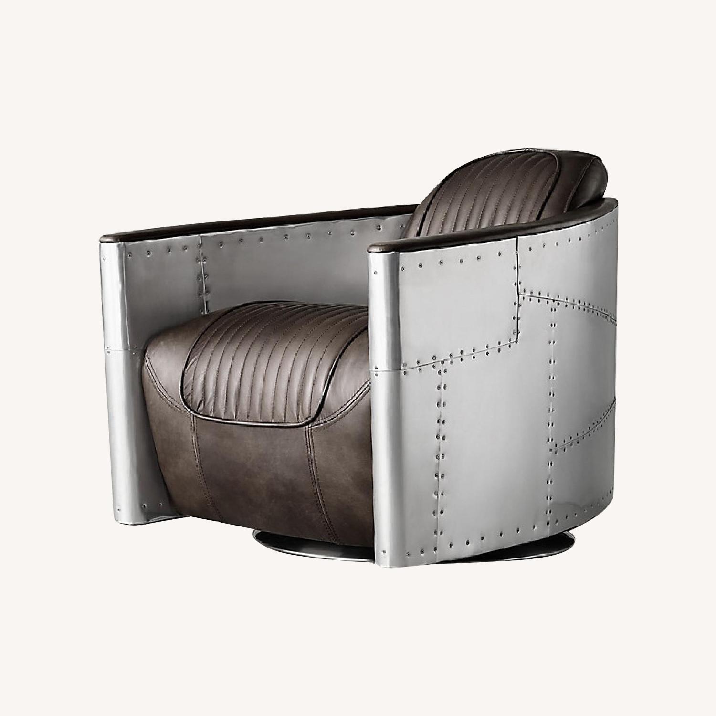 Restoration Hardware Aviator Swivel Chair - image-0