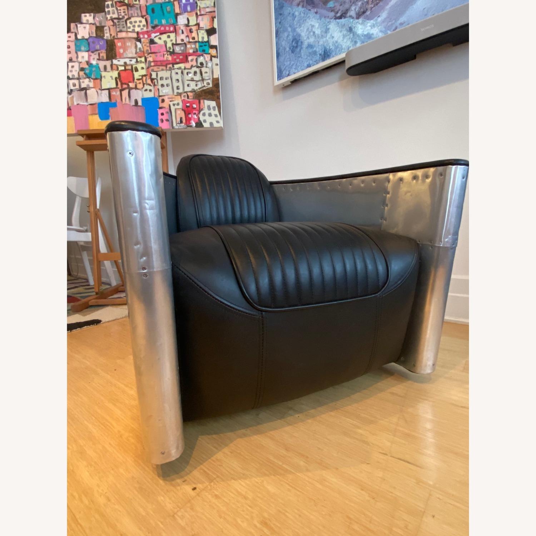 Restoration Hardware Aviator Swivel Chair - image-2