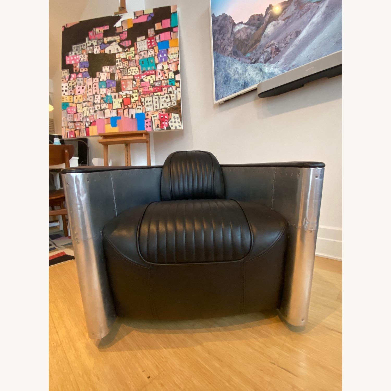 Restoration Hardware Aviator Swivel Chair - image-1