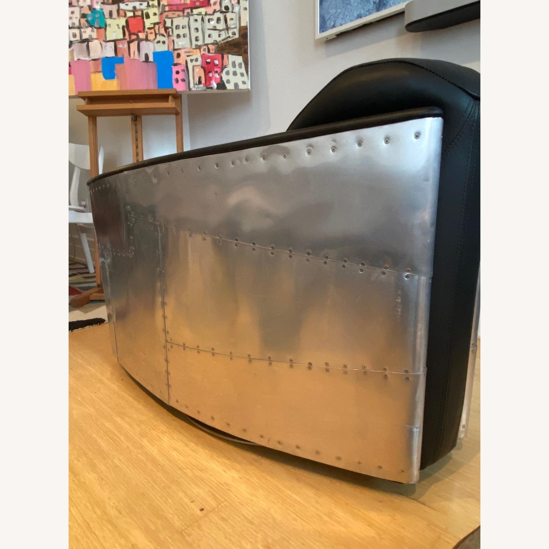 Restoration Hardware Aviator Swivel Chair - image-7