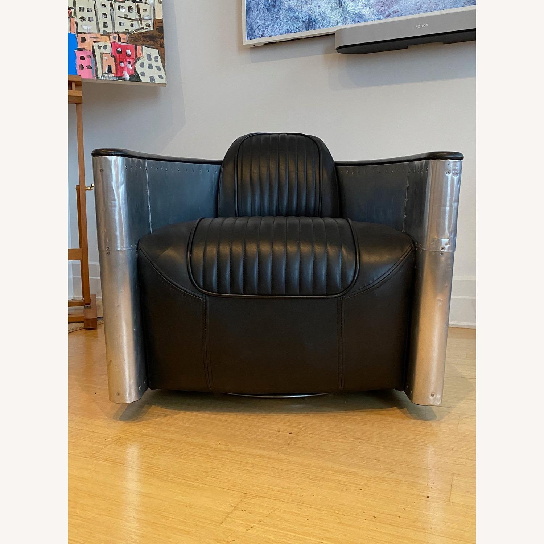 Restoration Hardware Aviator Swivel Chair - image-8