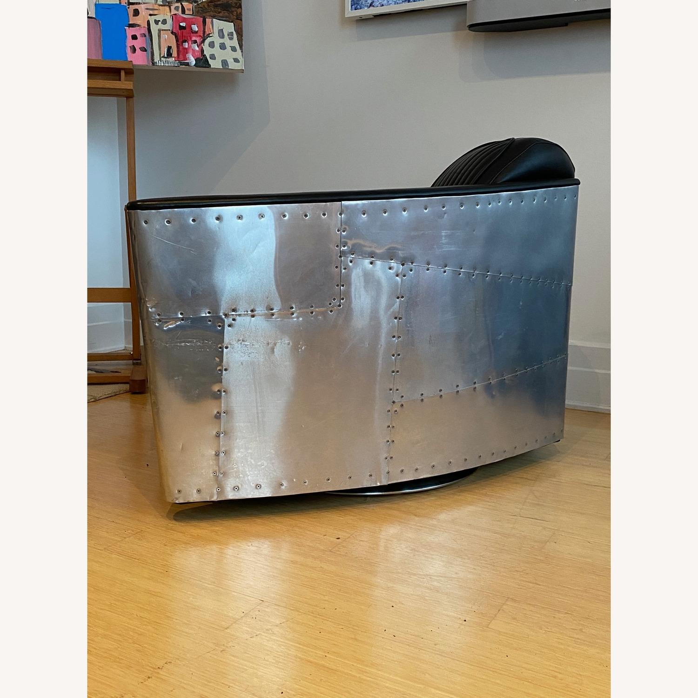 Restoration Hardware Aviator Swivel Chair - image-6