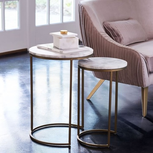 Used West Elm Round Nesting Side Table for sale on AptDeco