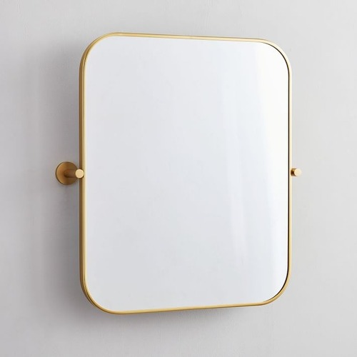 Used West Elm Metal Frame Pivot Wall Mirror for sale on AptDeco