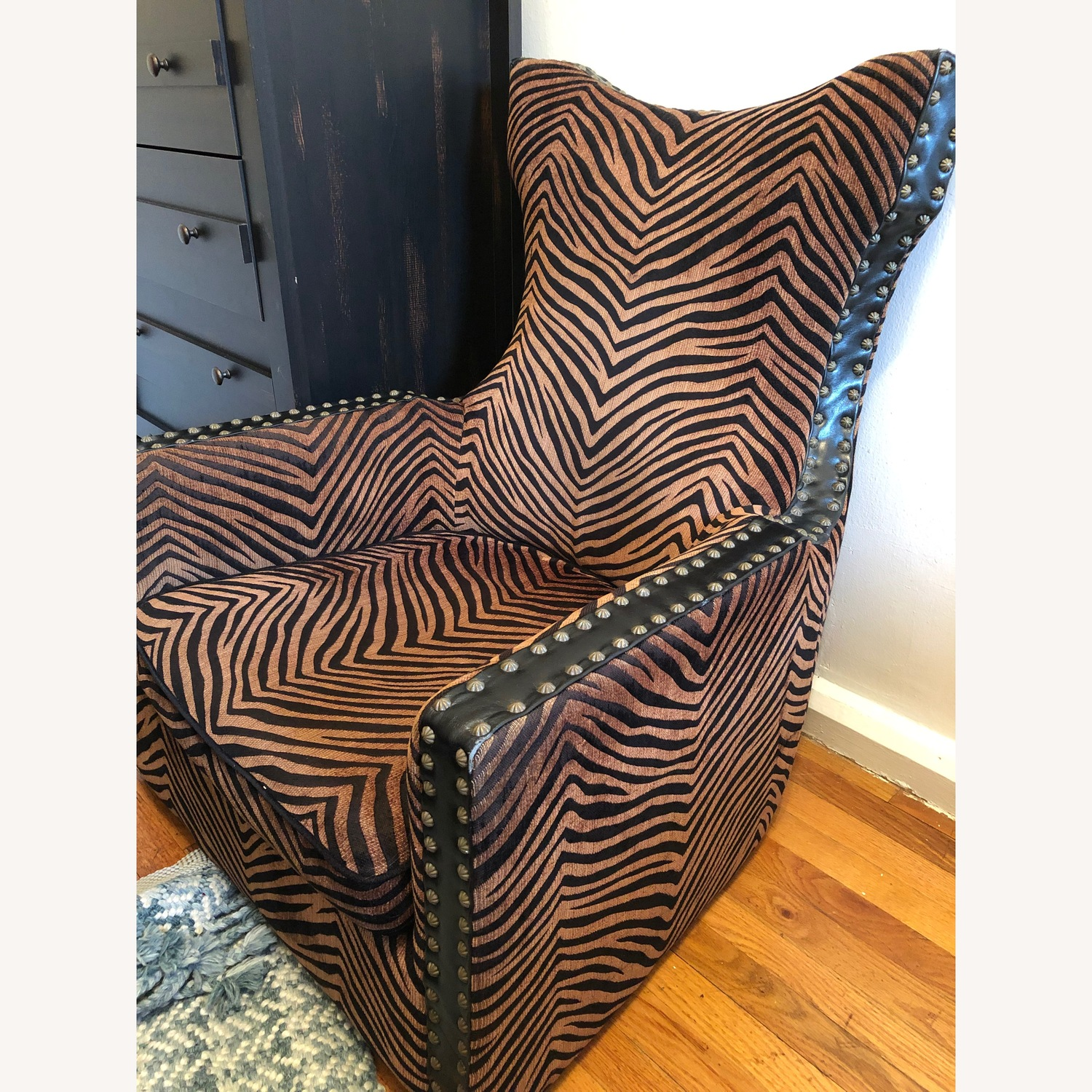 Uttermost Zebra Brow and Black Chair - image-3