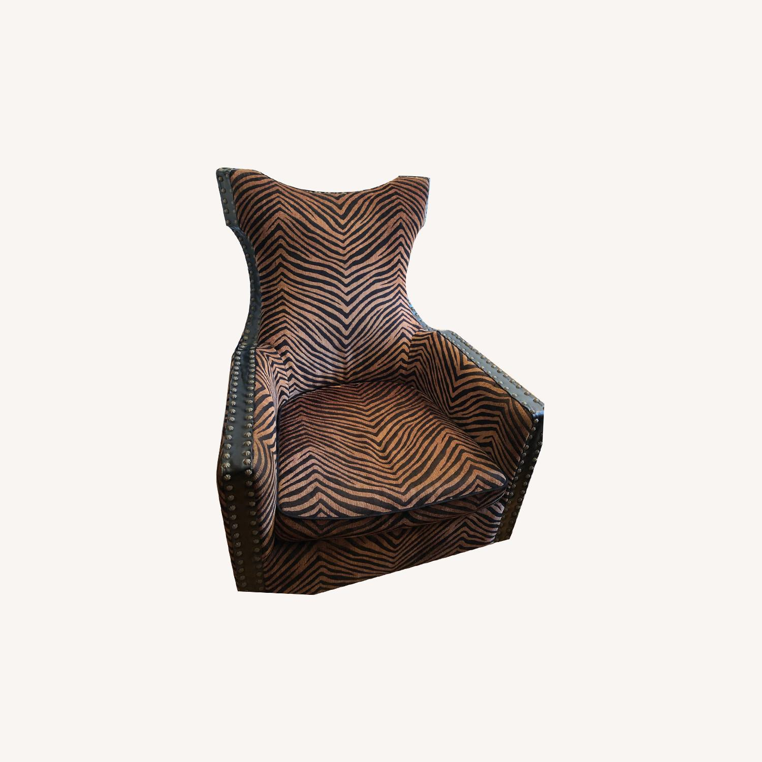 Uttermost Zebra Brow and Black Chair - image-0