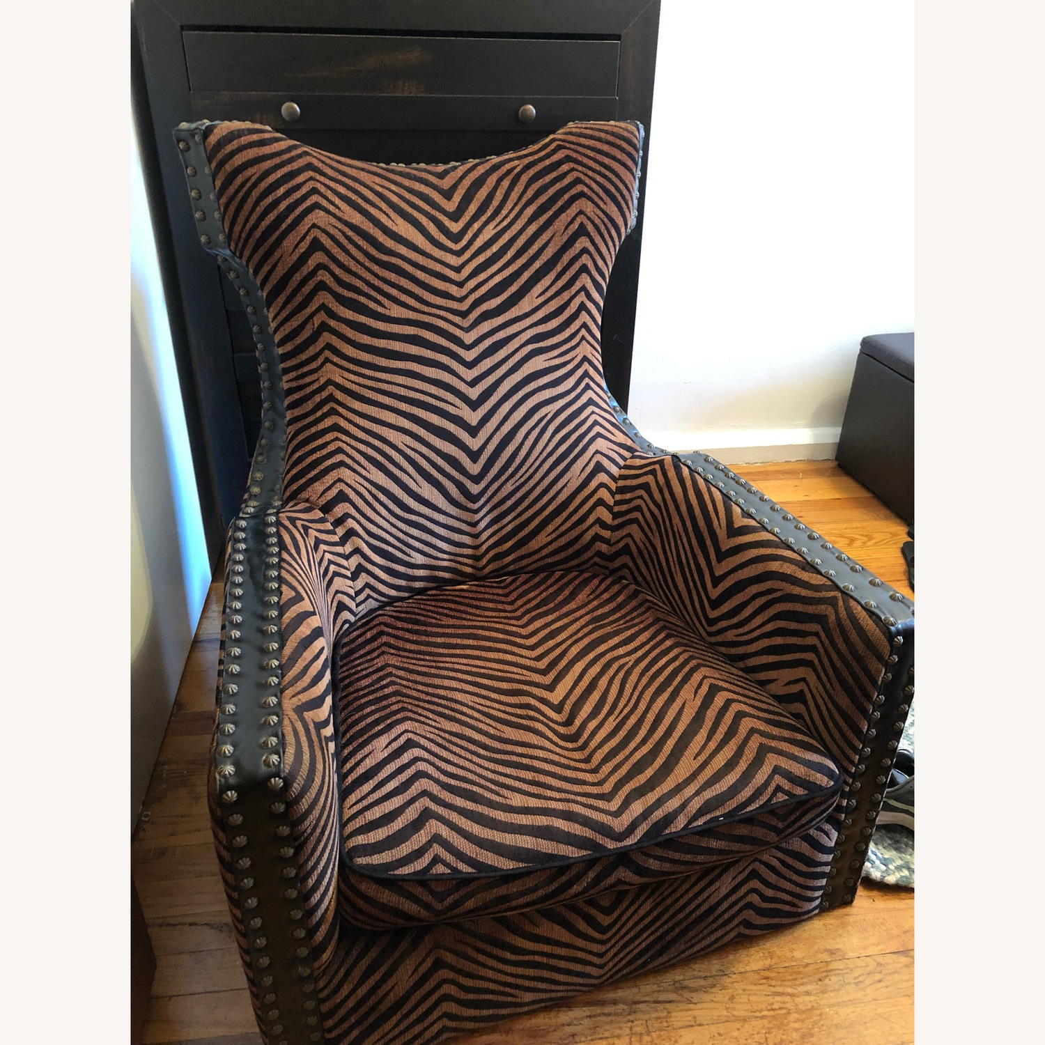 Uttermost Zebra Brow and Black Chair - image-1