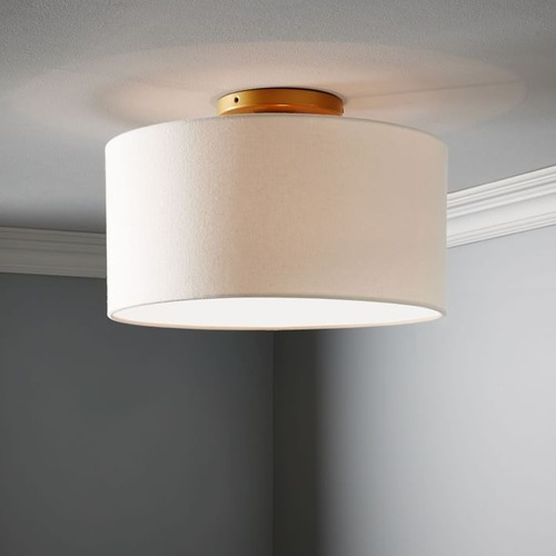 Used West Elm Fabric Shade Flush Mount for sale on AptDeco