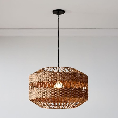 Used West Elm Rattan Weave Pendant for sale on AptDeco