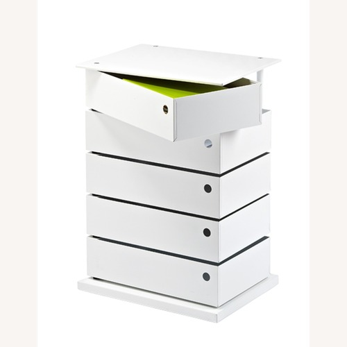 Used Container Store Night Stand / 5 Drawer Storage Tower for sale on AptDeco