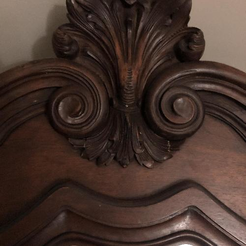Used Antique French Louis XV Walnut Armoire for sale on AptDeco