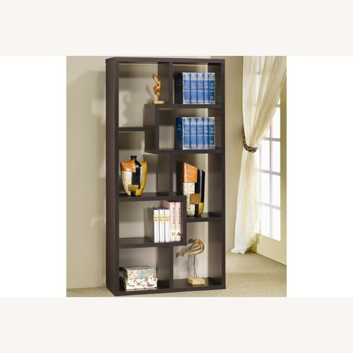 Used Cappuccino Bookcase w/ 10 Shelves for sale on AptDeco