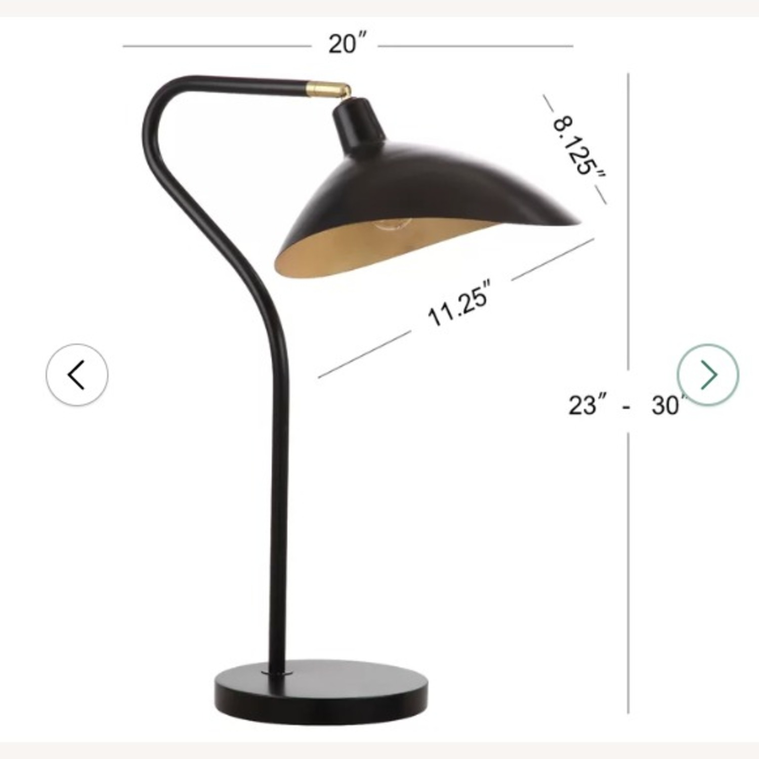 Picture of: Black Beechnut Arched Table Lamp Aptdeco