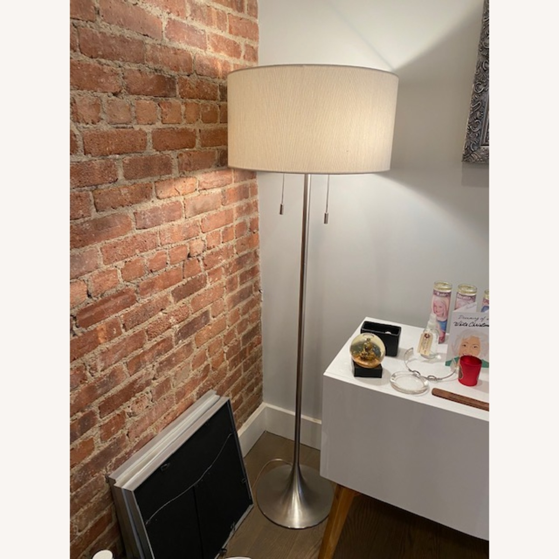 AllModern Brushed Steel Floor Lamp