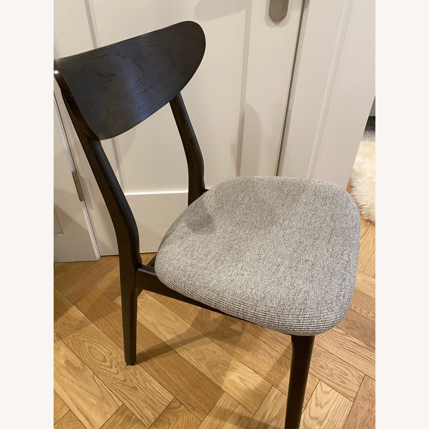 West Elm - Modern Office chair (black and grey) - image-3