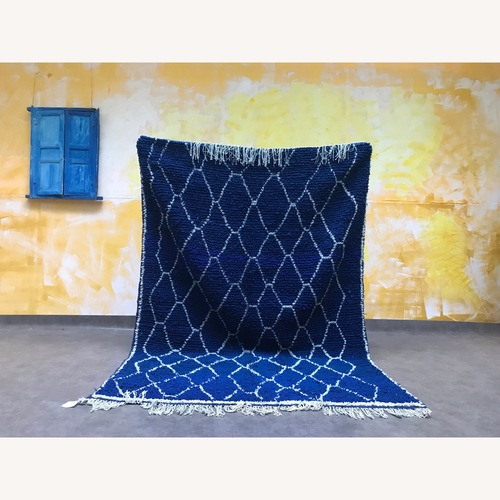 Used Authentic Moroccan Beni Ourain Rug for sale on AptDeco
